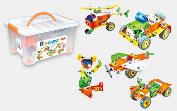 BUILD AND PLAY WITH 163 PARTS IN STORAGE BOX J-7751