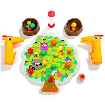 TOPBRIGHT FAMILY GAMES WOODEN PECKER'S FRUIT FIESTA GAME