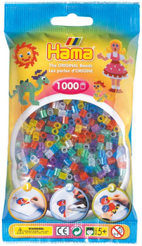 HAMA GLITTER BEADS 1000 PIECES (COLORS AND STYLES VARY)