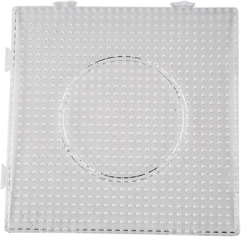 HAMA CLEAR PEG BOARD FOR LARGE BEADS (STYLES VARY)