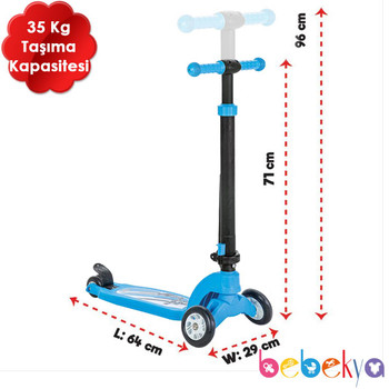 3 WHEEL SCOOTER (COLORS VARY)