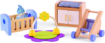 HAPE BABY'S ROOM- WOODEN DOLLHOUSE ACCESSORIES