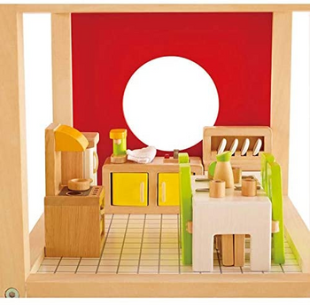 HAPE DINING ROOM- WOODEN DOLLHOUSE ACCESSORIES