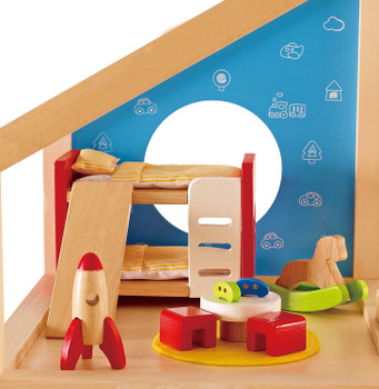 HAPE CHILDREN'S ROOM- WOODEN DOLLHOUSE ACCESSORIES