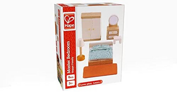 HAPE MASTER BEDROOM- WOODEN DOLLHOUSE ACCESSORIES