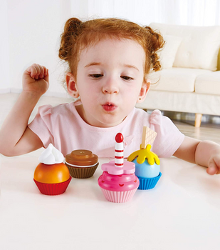 HAPE WOODEN CUPCAKES-  WOODEN DOLLHOUSE ACCESSORIES
