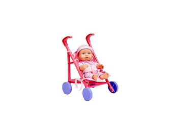 "7"" DOLL WITH STROLLER (COLORS AND STYLES VARY)"