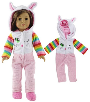 """THE NEW YORK DOLL PAJAMAS FOR 18"""" DOLL (DOLL NOT INCLUDED)"""