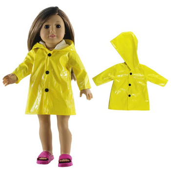 """THE NEW YORK DOLL YELLOW RAINCOAT FOR 18"""" DOLL (DOLL NOT INCLUDED)"""