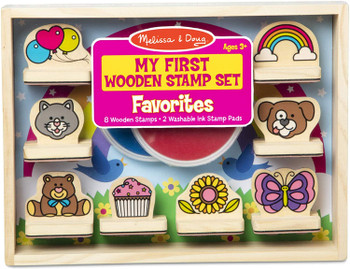 MELISSA & DOUG MY FIRST WOODEN STAMP SET (STYLES VARY)
