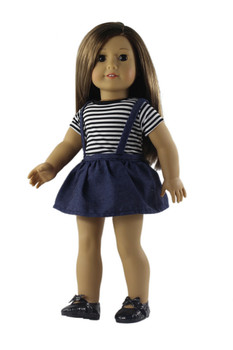 18 INCH DOLL NAVY JUMPER OUTFIT