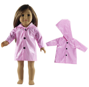 """THE NEW YORK DOLL PINK RAINCOAT FOR 18"""" DOLL"""