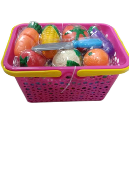 CUTTING VEGETABLES BASKET 28 PIECE SET (STYLES VARY)