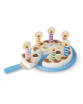 MELISSA & DOUG BIRTHDAY PARTY WOODEN PLAY CAKE