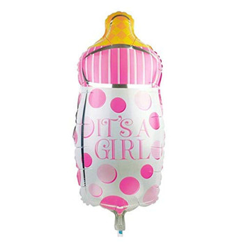 18 INCH HELIUM BALLOON BABY GIRL BOTTLE DESIGN (STYLES VARY)