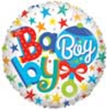 18 INCH HELIUM BALLOON BABY BOY (STYLES VARY)