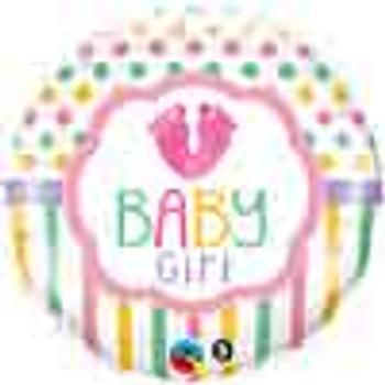 18 INCH HELIUM BALLOON BABY GIRL (STYLES VARY)
