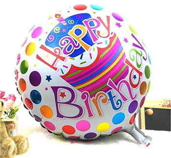 18 INCH HELIUM BALLOON HAPPY BIRTHDAY (STYLES VARY)