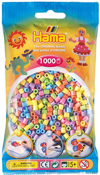 HAMA BEADS 1000 PIECES (COLORS AND STYLES VARY)
