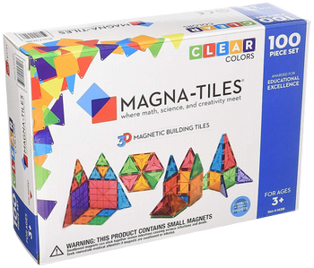 MAGNA - TILES CLEAR COLORS 100 PIECE SET