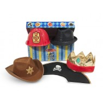 MELISSA & DOUG ROLE PLAY COSTUME COLLECTION- TOP THIS! ROLE-PLAY HATS
