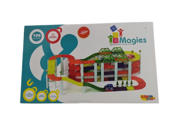 MAGIES MAGNETIC BUILDING BLOCKS 106 PIECES STREET SET