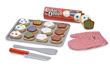 MELISSA & DOUG WOODEN SLICE AND BAKE COOKIE SET