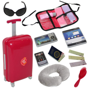 NEW YORK DOLL TRAVEL SET WITH ACCESSORIES
