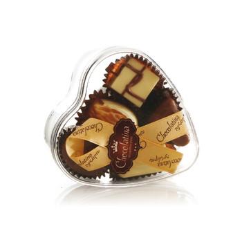 PRALINE CHOCOLATE HEART BOX- 5 PIECES
