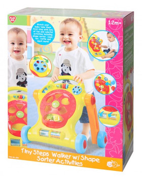 PLAYGO TINY STEPS WALKER WITH SHAPE SORTER ACTIVITIES
