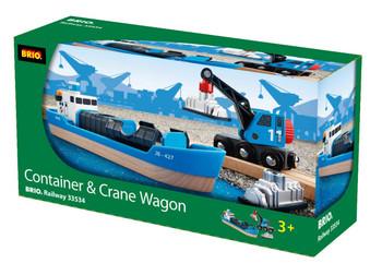 BRIO CONTAINER SHIP AND CRANE WAGON