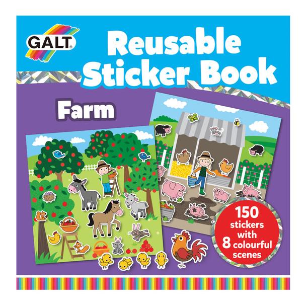 GALT REUSABLE STICKER BOOK FARM