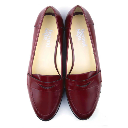 Kate Burgundy Faux Leather Vegan Loafers