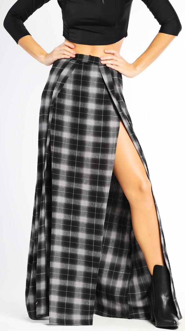 Harley Flannel Skirt