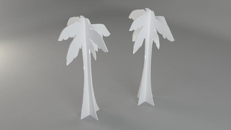 Free standing Palm Tree 1204mm W x 1204mm D x 2172mm H