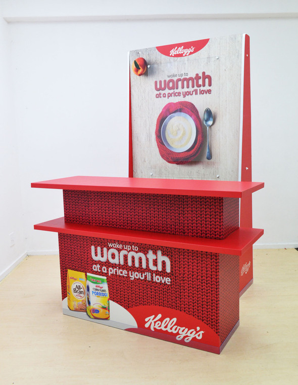 Promo Table with Backdrop Promo Table - 1500mm W x 500mm D x 961mm H Backdrop - 1032mm W x 400mm D x 2000mm H