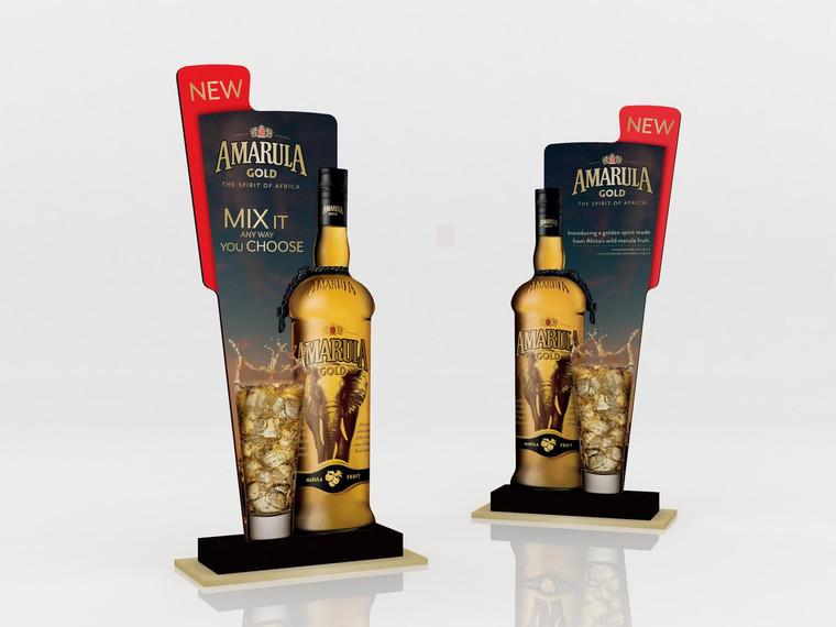 Bottle Standee on Plinth 616mm (w) x 280mm (d) x 1129mm (h)