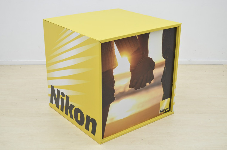 Branded Display Cube 760mm (w) x 760mm (d) x 760mm (h)
