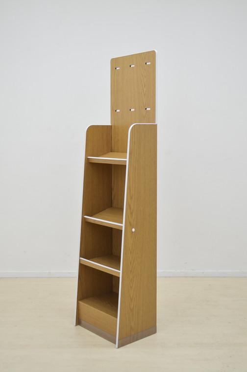 4 Tier angled shelf FSU 400mm (w) x 300mm (d) x 1600mm (h)