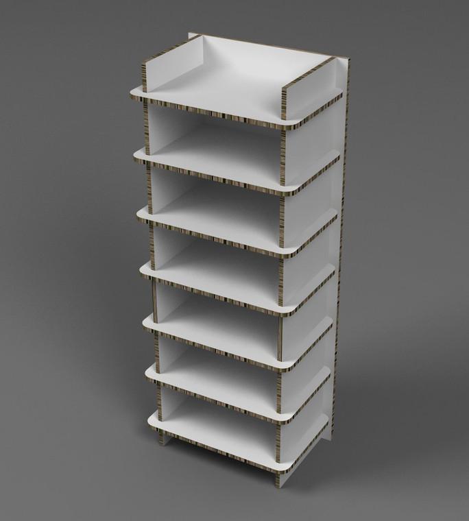 Shelving unit 600mm (w) x 440mm (d) x 1512mm (h)