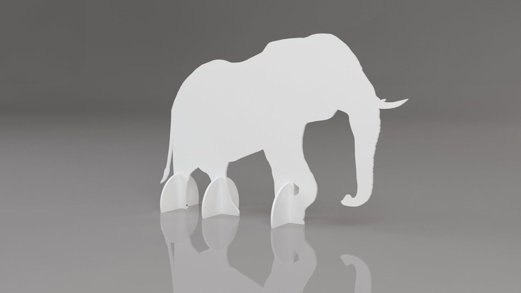 1:3 scale Elephant Standee 412mm (w) x x 1868mm (d) x 1193mm (h)