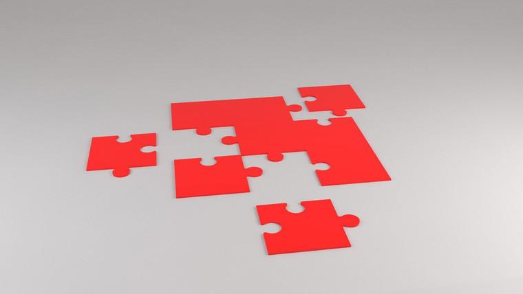 Simple 9 piece puzzle 1150mm (w) x 1150mm (d) x 10mm (h)
