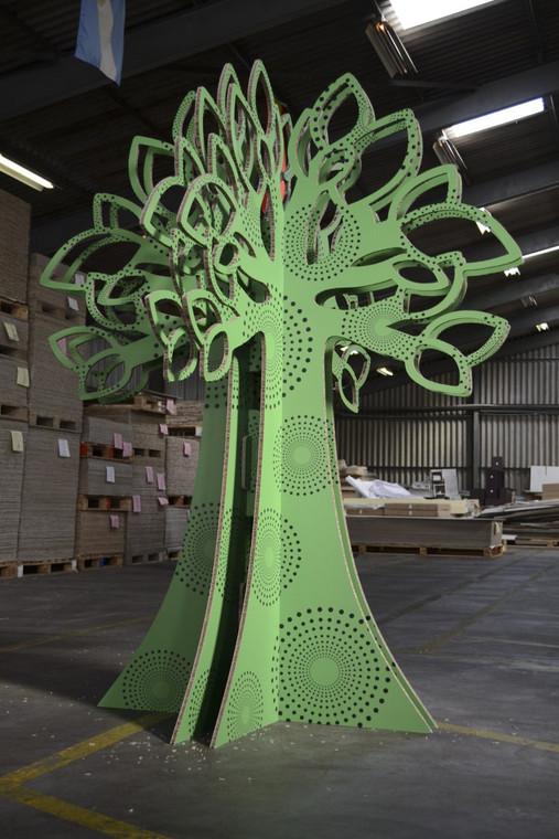 X054 Go Green Tree - Cut file