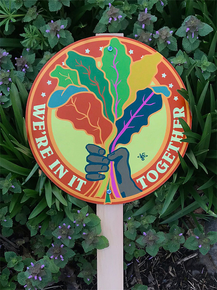 We're In It Together Garden Sign
