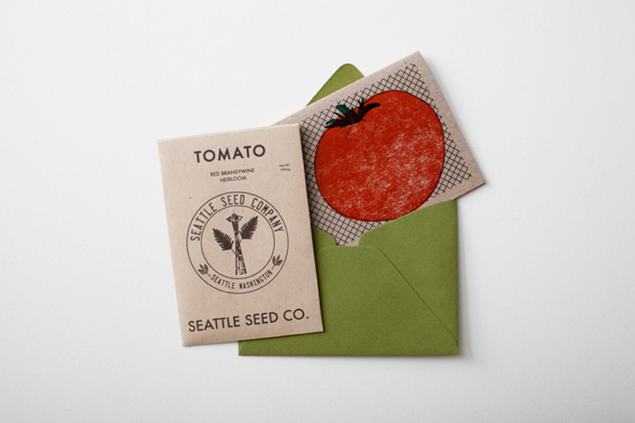 Card, envelope* and seeds**.