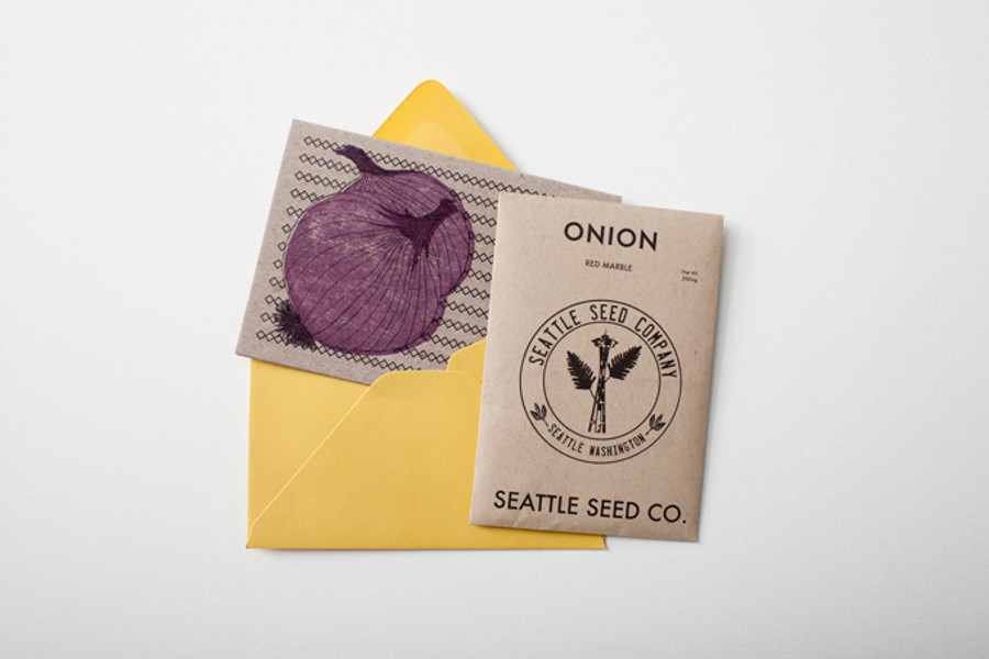 Card, envelope* and seeds.**