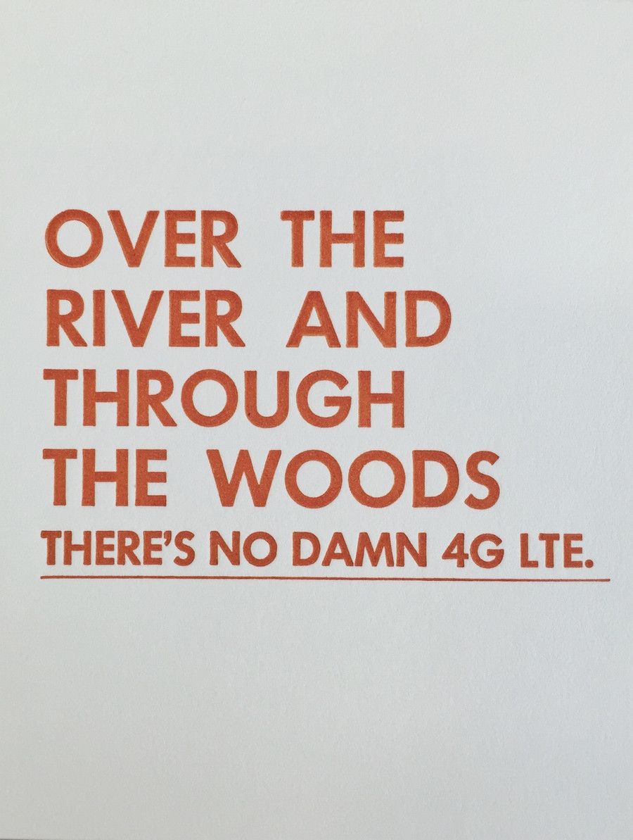 Over the River - Greeting Card - Letterpress