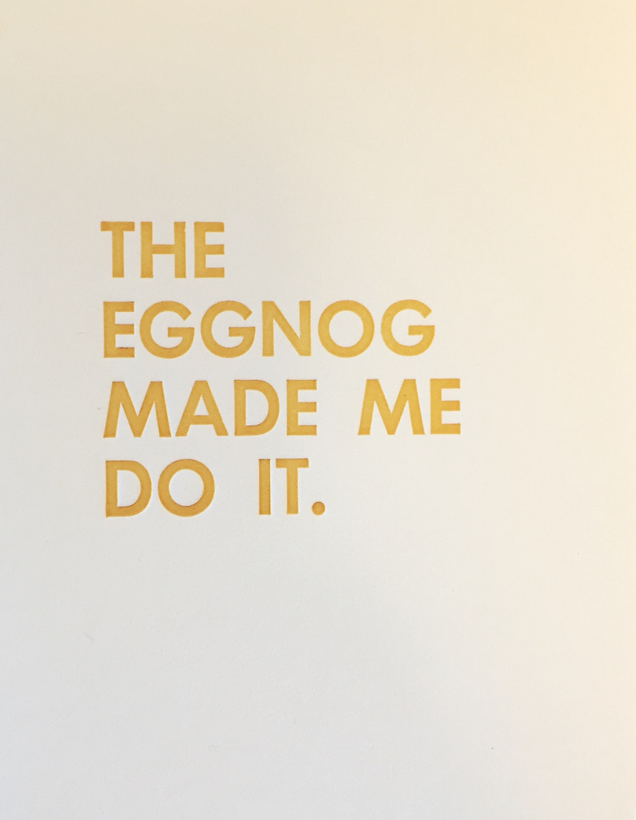 Eggnog - Greeting Card - Letterpress