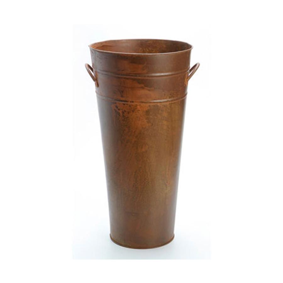 Floral Bucket - Rusty - 13 inch