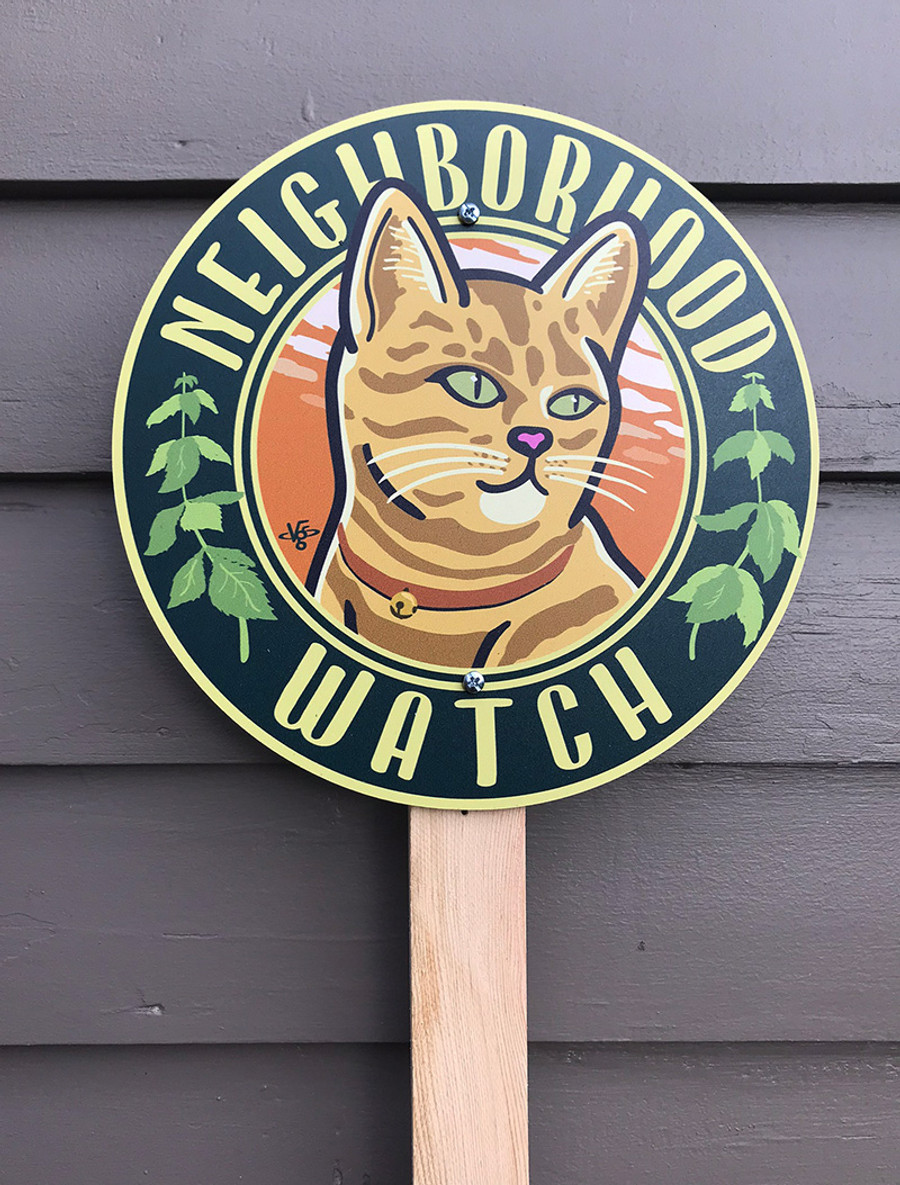 Neighborhood Watch Garden Sign